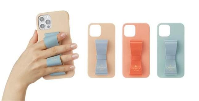 アイコニックなリボンデザインがポイントのiPhoneケース