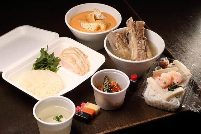 松記鶏飯「シンガポールまるごとセット(4品)」