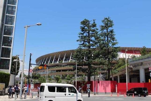 国立競技場はじめ、都内の五輪競技各会場は無観客で開催されている