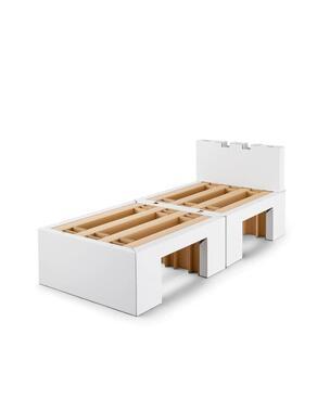 選手村に寝具として提供されている段ボールベッド(画像はエアウィーヴの提供)