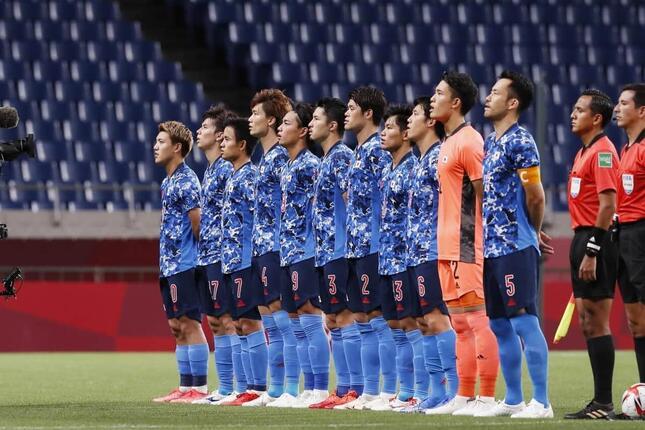 東京五輪サッカー男子準決勝で(写真:ムツ・カワモリ/アフロ)