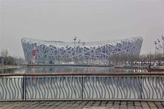 北京冬季五輪で開会式の会場となる予定のスタジアム「北京国家体育場」