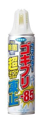 殺虫剤不使用なので、キッチンやダイニングなど食品まわりでも使える「ゴキブリ超凍止ジェット 除菌プラス」