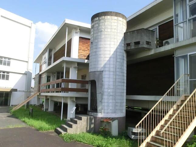 円筒状の階段 撮影・提供:集合住宅歴史館・増重さん