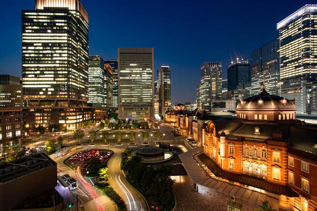 ミッドナイトツアー後は東京駅直結のホテルにてゆっくり過ごせる