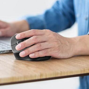人間工学に基づいた左手用ワイヤレスマウス