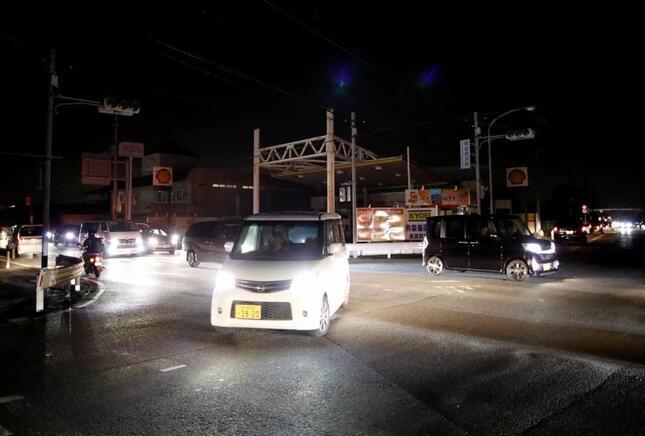 2019年9月、台風15号で停電が起きた千葉県木更津市(写真:ロイター/アフロ)