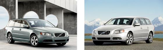 ボルボ・カーズ・ジャパン「2.5T LE」(左)「3.2SE AWD」(右)