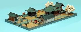 トミーテックが発売する神社のジオラマ
