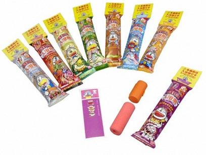 (C)やおきん/バンダイ「うまい棒入浴剤」。本商品は食べられません