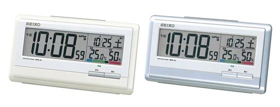 セイコークロック温湿度計を内蔵した電波目覚まし時計