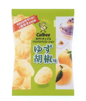 カルビー「ポテトチップス ゆず胡椒味」