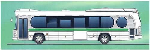 「東京→夢の下町」で運行されるオリジナルデザインのバス