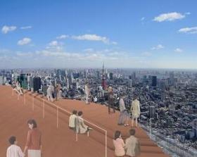 六本木ヒルズの屋上から眺める東京の街は絶景