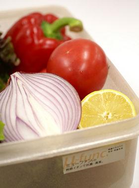 ミューファン・パウダーが練りこまれたプラスチックで作られた「純銀入りの食品保存容器」
