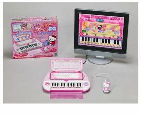 エポック社が発売する「ハローキティ ピアノパソコン」<br />(c)1976.1999.2008 SANRIO CO., LTD.<br />(c)2008 SSD COMPANY LIMITED<br />(c)2008 EPOCH Co., LTD.<br />