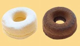 リングシフォンケーキ ホイップカスタード(左)と同チョコ