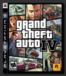 「GTA IV」のPS3版パッケージ。北米での実売価格は約60ドル