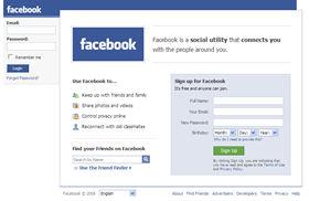 じつにシンプルなFacebookのトップページ。mixiの色使いとは対照的だ