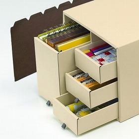 プラス 「エンボス紙」でできた収納ボックス