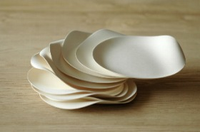 使い捨ての皿とは思えない造形の「WASARA」