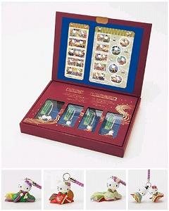 "LAWSON推出的""问候邮票《Kitty猫》和独一无二的手机链套装"""