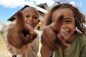 笑顔あふれる東ティモールの子どもたち