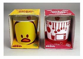 日清食品のチキンラーメンガラスカップ「ひよこちゃん」「キッチン」