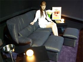 個室型のバルコニー席「プラチナルーム」。人目を気にすることなく泣いたり笑ったりできるのも魅力