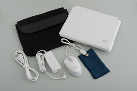 Eee PC 901-Xは実売59800円程度。カラーは写真の白か、黒の二択