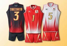 全日本女子バレーボールチーム日本代表選手のユニフォームのレプリカウェア