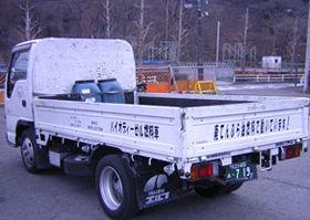 沖電気工業では、使用済み天ぷら油を使用してトラックを走らせている