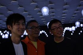 歓談する田川欣哉、坂井直樹、伊東豊雄の各氏(左から)