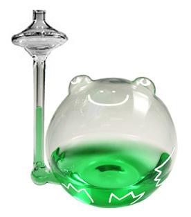 ノルコーポレーション「ザ・フロッグ ウェザー リポーター」(写真の緑色の水は着色されている)