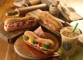 スターバックスのコーヒーにマッチするフィローネのサンドイッチ