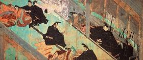 8月30日から9月6日までの期間限定で展示される国宝「紫式部日記絵巻 五島本第三段 絵」(制作:鎌倉時代 所蔵:五島美術館)