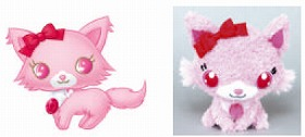 (左)WEB上のキャラクター (右)実際のうぇぶぐるみ (C)2008 SANRIO/SEGATOYS