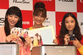 発表会では「3姉妹」がプリンターの魅力をアピールした