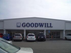 いかにもアメリカンな店構えの「Goodwill」