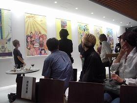 会場には登録クリエーターの個性的な作品が展示された