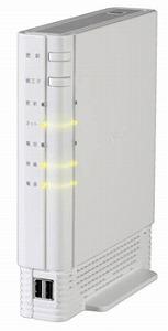 1Gbpsネットを可能にする機器「ギガホームゲートウェイ」。無線LAN機能も備える