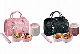 お洒落なキルトバッグ付き 象印マホービン「お・べ・ん・と SZ-EA03型」。価格は7350円。