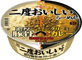東洋水産「二度おいしいらーめん 濃厚豚骨→クリーミーカレー」