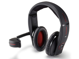 The head phone that makes possible to enjoy videos and music simultaneously easily at anyplace