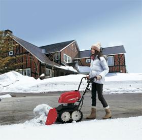 低騒音設計で早朝の除雪作業にも配慮