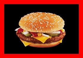「QUARTER POUNDER with cheese」