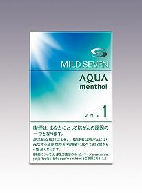 新デザインのパッケージ(「マイルドセブン・アクア・メンソール・ワン・ボックス」)