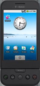 グーグルOS「アンドロイド」を搭載して話題の「T-Mobile G1」