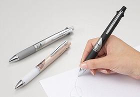 ラバー素材で握りやすく、すらすら書ける