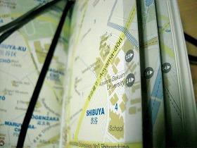 青山学院周辺の地図。デザインもオシャレだ